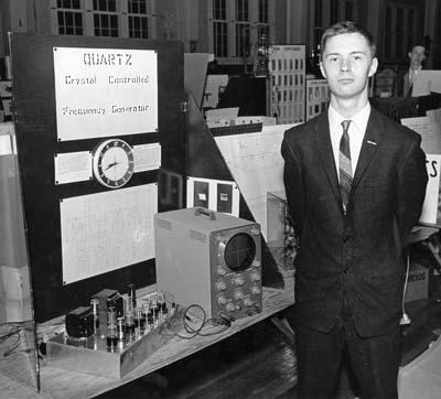1961 Bill with Quartz Clock at Science Fair 400