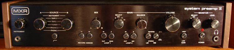 Pic of MXR System Preamp II with link to hi-res version