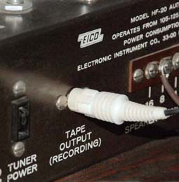 Photo of HF20 tape output