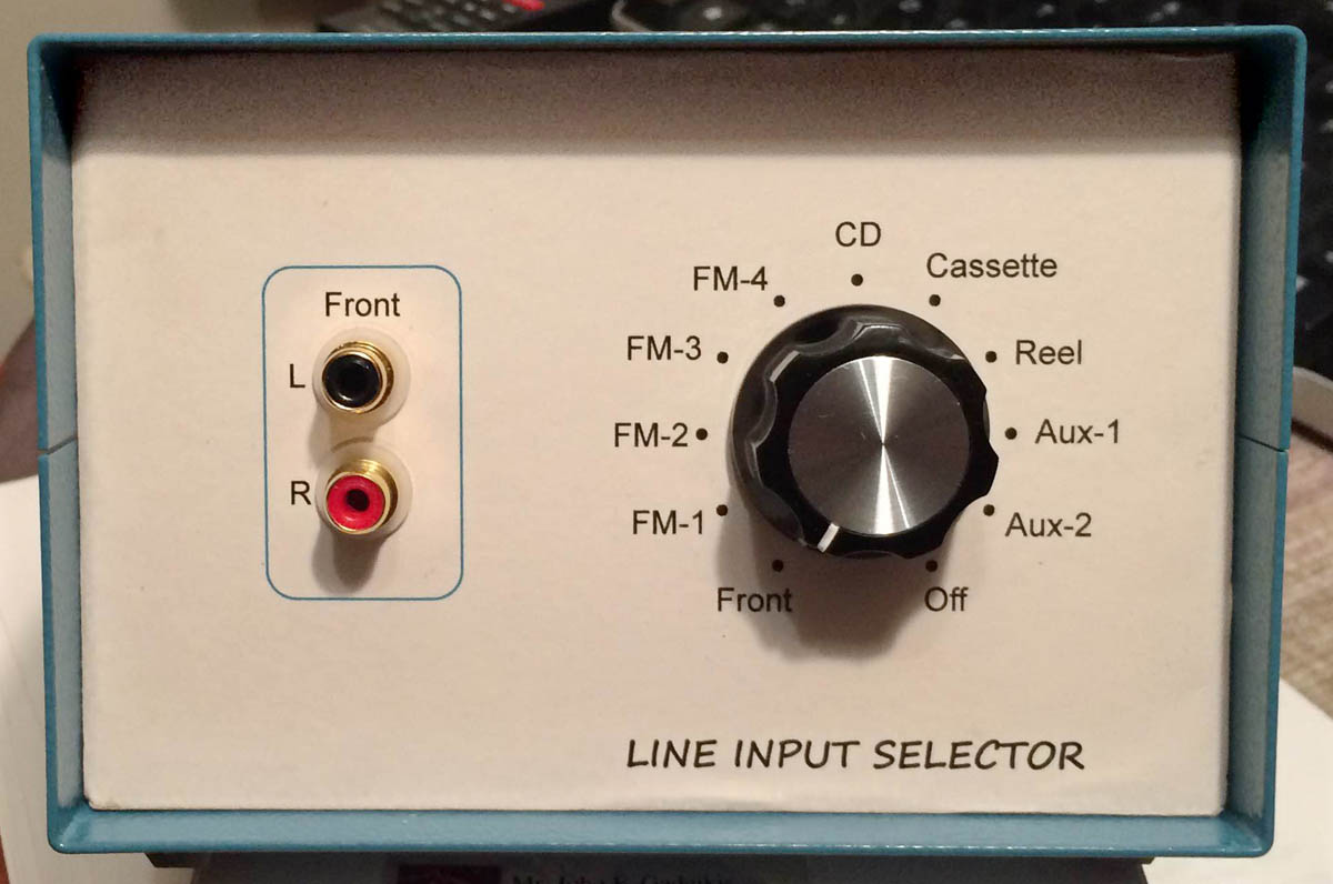 LIS Final Line Input Selector--front view 1200